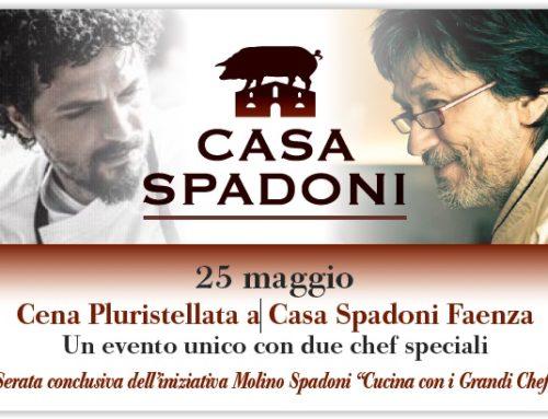 Cena pluristellata il 25 maggio a Faenza