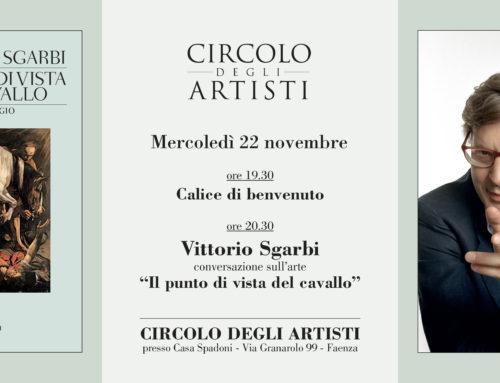 Vittorio Sgarbi ospite del Circolo degli Artisti a Faenza