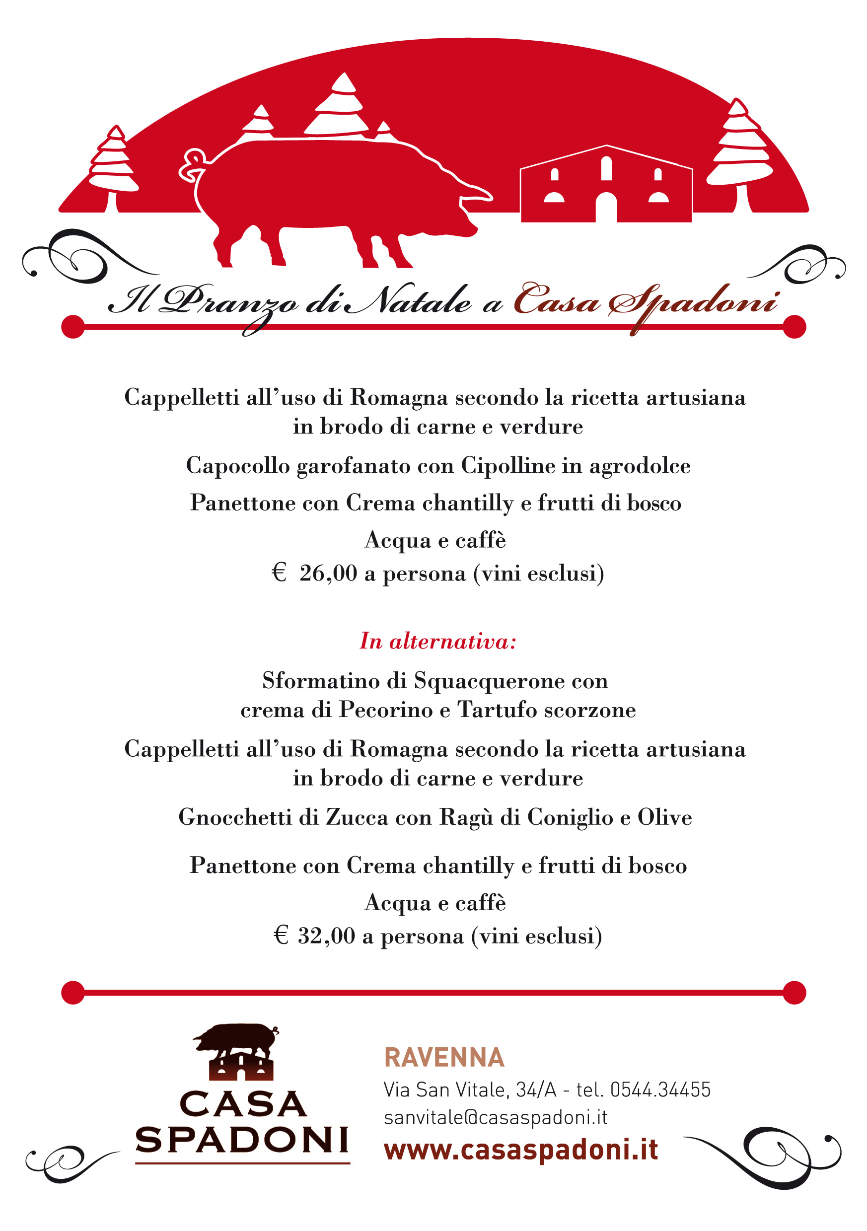 Menu Pranzo Di Natale In Casa.Menu Natale Ravenna 01 Casa Spadoni