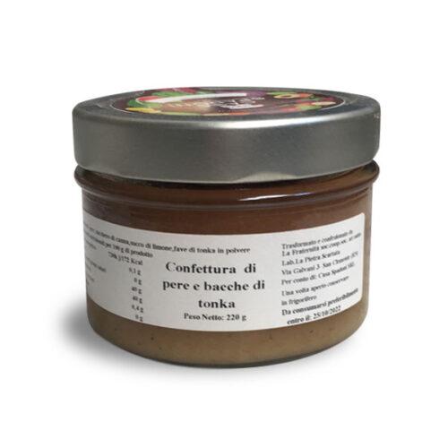 Confettura di pere e bacche di tonka