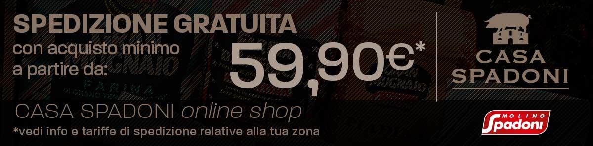 Spedizione gratuita con almeno 59,90 euro di spesa!