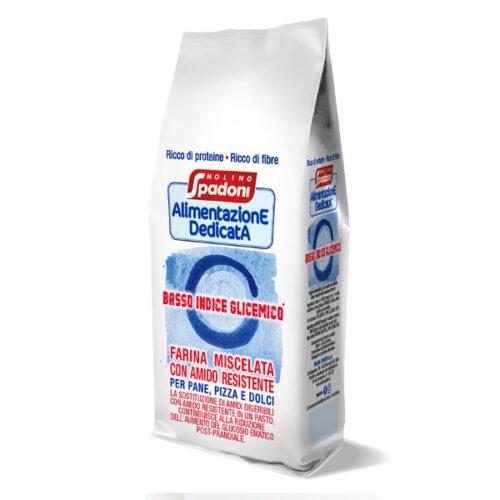 Farina miscelata a basso indice glicemico